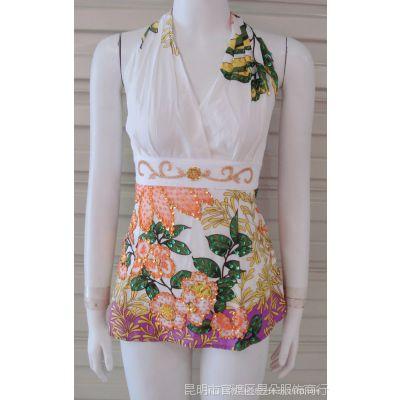 民族风钉珠吊带 手工钉珠重工吊带 泰国服装 绣珠吊带017