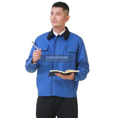 供应洪瑞 HR-814 藏蓝、艳蓝、湖蓝、驼灰、大红 工作服 劳保服 职业装 工作 工程服 劳保服
