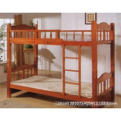 供应员工宿舍家具实木学生双层床/公寓床宿舍双层床寺庙床修行床