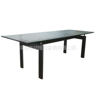 供应深圳纳维亚高级柯布西耶餐桌,办公会议桌,经典时尚玻璃桌子LC6