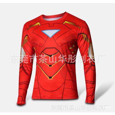 电影动漫 美国队长T恤 钢铁侠 男士长袖T恤欢迎来图订做或批发