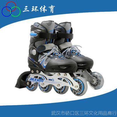 大量供应 PW-130C成人闪光动感溜冰鞋 儿童旱冰动感轮滑鞋