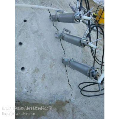 四川达州矿山岩石电动液压分裂机啄木鸟劈石机