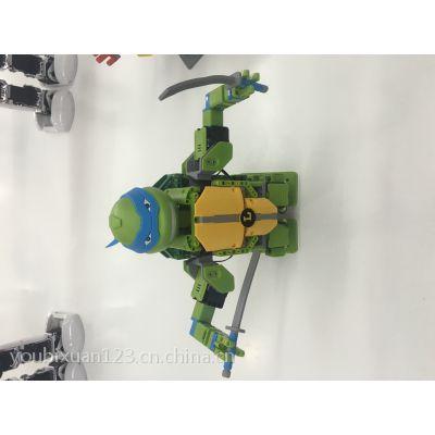 优必选积木机器人 忍者神龟积木机器人 可以动的积木机器人