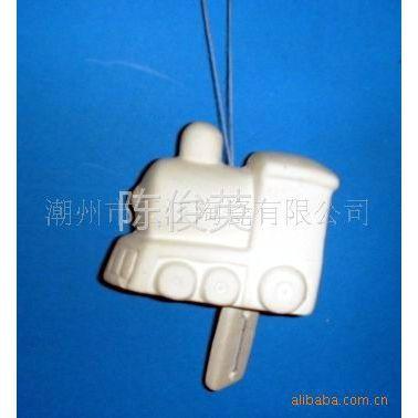 供应DIY陶瓷火车风铃 DIY陶瓷 DIY卡通造型