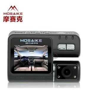 供应超大屏幕 摩赛克MX730高清1080P 夜视广角行车记录仪 双镜头