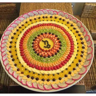 手工陶瓷大40120厘米水果拼盘青花和景德镇青花瓷陶瓷图片