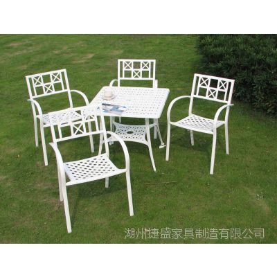 十字餐椅套装别墅铸铝花园桌椅 铸铝户外桌椅 休闲家具 欧式铸铝