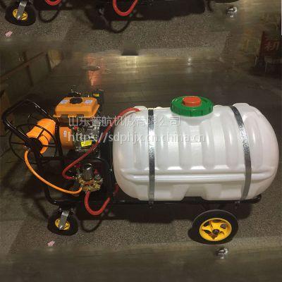 自走式农田手推打药机 大容量手推打药机 普航风送式果园喷药机 视频