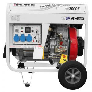 3KW 柴油发电机组DG3000E 带轮子和手柄 单相 电启动