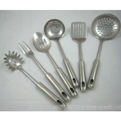 厂家直销 中低档厨具 价格实惠 不锈钢 烹饪勺铲8件套  YX1053