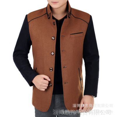 厂家批发 春秋品牌夹克衫 男士立领薄款休闲男式中年外套男装