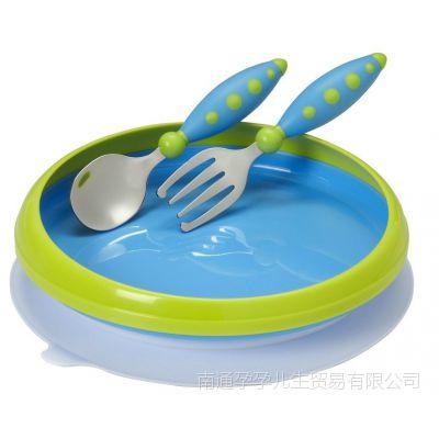 nuk辅食吸盘碗婴儿碗勺餐具宝宝餐盘叉勺子训练吃饭儿童套装进口