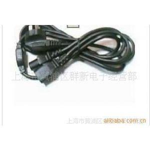 供应1.8米国标电源一分二线 一拖二电源线 主机+显视器 电源线