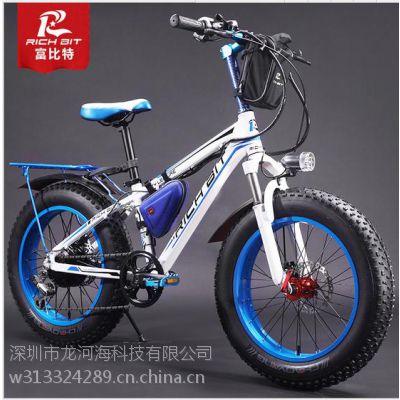 厂家批发超强续航霸气20寸36V10.5A雪地电动自行车支持加工定制