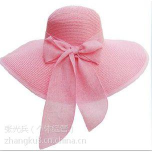 优质供应外贸出口太阳帽 时尚草帽 新款大沿帽子