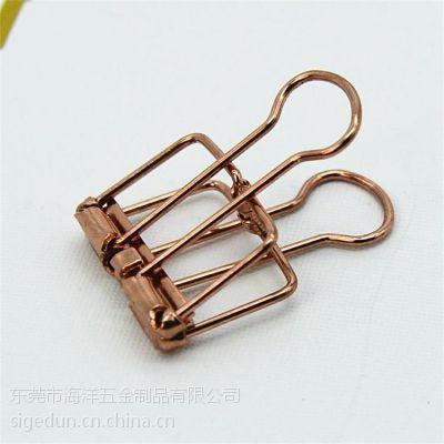 斯格顿大号6色可选简约金属镂长尾夹收纳夹票据夹手帐周边收纳用