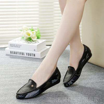 特价清仓丽人秋款真皮单鞋 尖头平底欧美浅口单鞋妈妈鞋K808-5P
