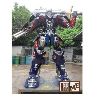 定制 租赁 酒吧室外创意工业风金属铁艺齿轮大型机器人摆件装饰品