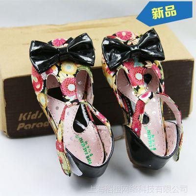外贸原单批发尾货女童凉鞋儿童鞋蝴蝶结宝宝公主鞋D984