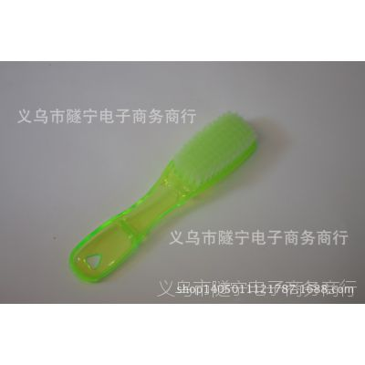 二元日用百货 大水晶鞋刷 透明彩色塑料洗衣刷清洁刷子批发