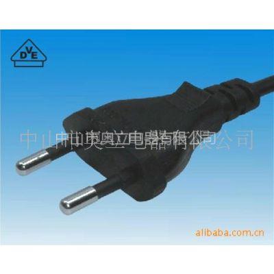 供应电源线厂家奥立AL-020欧式小风扇迷你音箱电源线插头线 配件