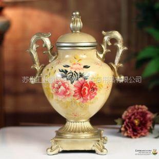 供应欧式田园装饰品创意树脂花瓶花插花器结婚礼品家居摆设乔迁礼品