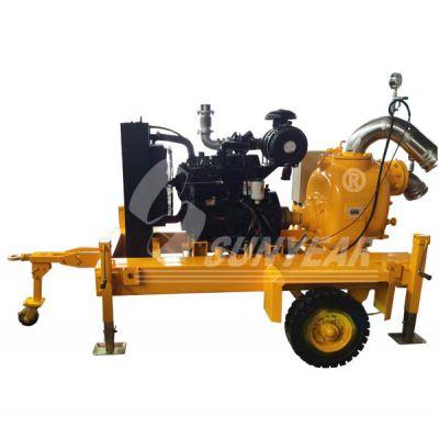 供应移动自吸式柴油抽水泵车丨无堵塞柴油抽水机车丨移动自吸排污泵车