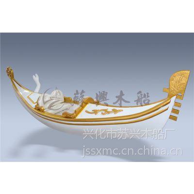 3米贡多拉装饰船 精品欧式手划船 贡多拉木船 广场贡多拉摆件木船