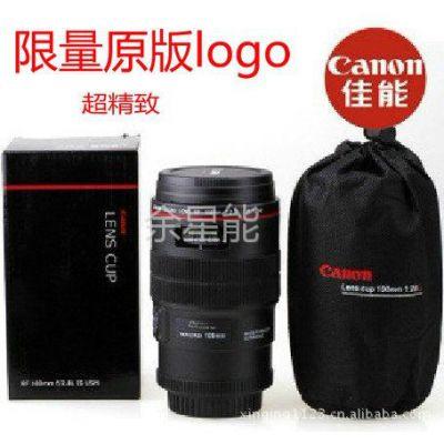 供应原标正品Canon佳能镜头杯EF100小百微创意单反相机杯子水杯不锈钢