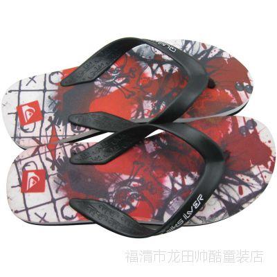 直销韩版时尚quiksilver潮男士沙滩人字凉拖鞋防滑按摩厚底QL040