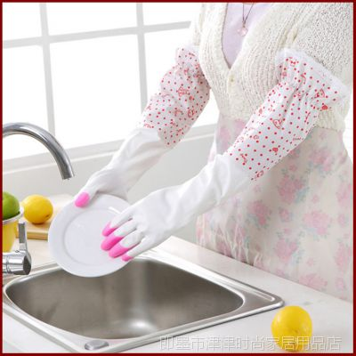 批发冬季防护鲨鱼油手套 家务洗碗 劳保 加长防水耐用 特价销售