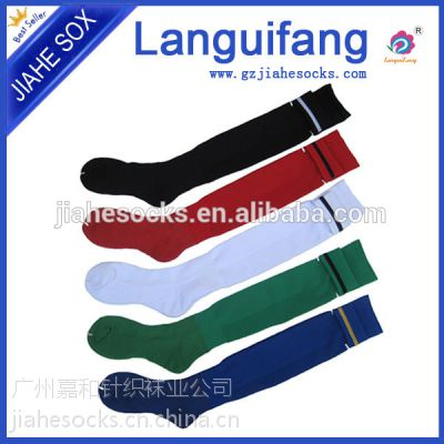 供应广州袜子厂家高档足球袜、足球袜子生产厂、批发足球袜