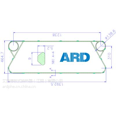 板式换热器 Danfoss 密封垫 艾瑞德
