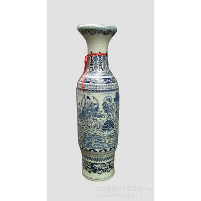 供应景德镇厂家直销青花陶瓷大花瓶,中国红陶瓷大花瓶 仿古陶瓷花瓶