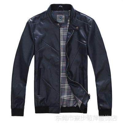 批发2013秋季新品男士皮衣 PY皮 外套 皮衣款号ZXYB140P6000