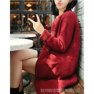 【13C】秋装大款毛衣韩版 柔软温暖马海毛长款毛衣外套开衫针织衫