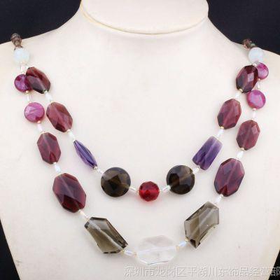 天然半宝石毛衣链 印度风格时尚波西米亚风长款项链 手工diy