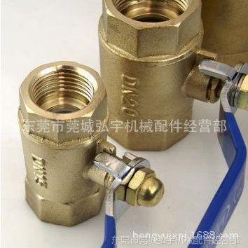 供应101自来水球阀门4分6分1寸DN152025内牙内螺纹黄铜加厚铜球阀丝扣