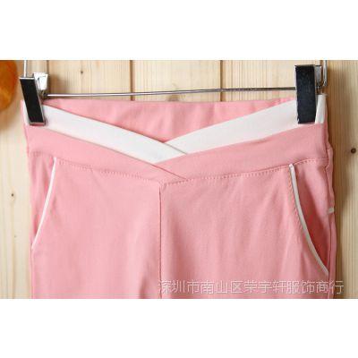 2014春装新款韩版糖果女式打底裤显瘦弹力高腰小脚铅笔长裤-8802
