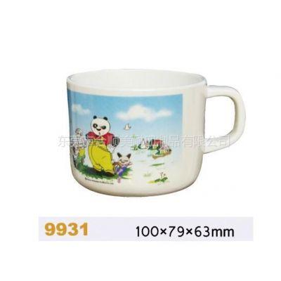 供应供应美耐皿密胺仿瓷餐具功夫熊猫杯