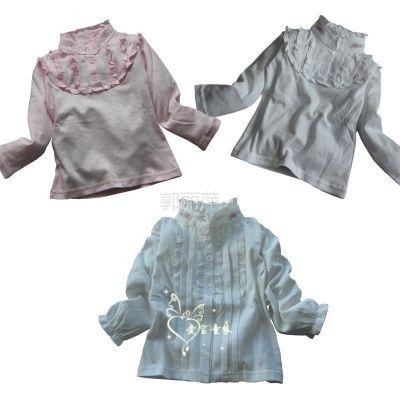 供应2012秋装新款 女童衬衫 儿童打底衫长袖 中小童纯棉衬衣
