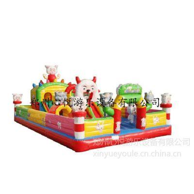 供应2015年喜羊羊乐园儿童充气蹦蹦床,河北新款充气跳跳床直营商