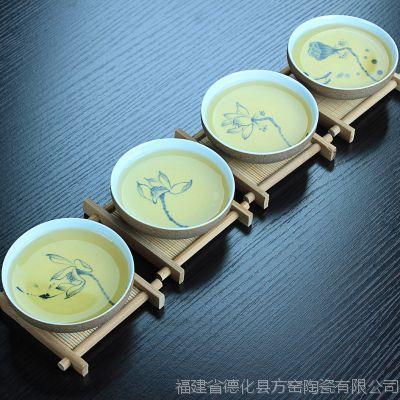 陶瓷茶杯 个人杯 德化功夫茶具 个人品茗杯 粗陶茶具 LOGO定制