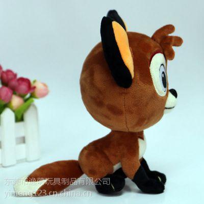 厂家直销毛绒动物玩偶狐狸公仔来图专业设计定制