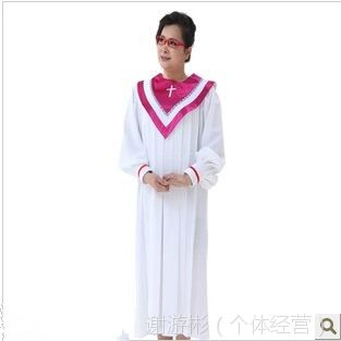 供应基督教诗班圣服长袖北京游彬之家圣诗袍圣诗服教会服装热销A012