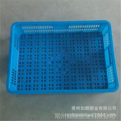 供应盱眙龙虾塑胶框 575-140筐 蔬菜水果蘑菇专用筐 南京工厂周转筐