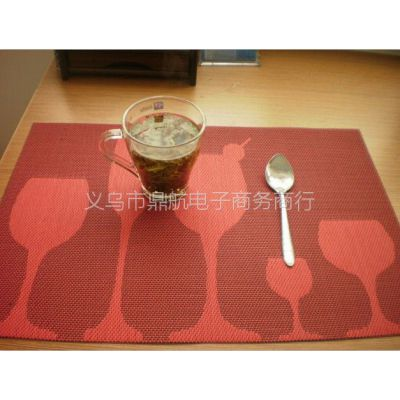 供应批发高档餐厅西餐垫PVC隔热垫防滑餐桌垫大提花多色特斯林