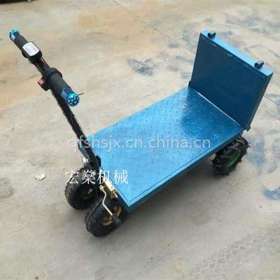 菜园电动折叠平板车物流手推车搬运车