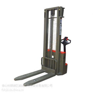 供应2吨步行式电动堆高车/半电动升高叉车【佛山搬易通MIMA米玛叉车佛山总代】